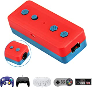 Wireless Bluetooth Adapter for Nintendo Switch & PC Windows, Works with Gamecube NGC Controller, NES/SNES/Wii Classic Cont...