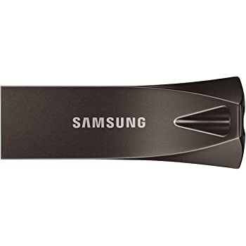Samsung Memorie MUF 128BE4 Bar Plus USB Flash Drive, USB 3.1, 128 GB, Type-A Fino a 300 MB/s, Grigio Titanio