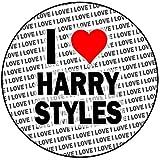 AK Giftshop I Love Harry Styles - Decoración para tartas (redonda, 20,3 cm, 20 cm)