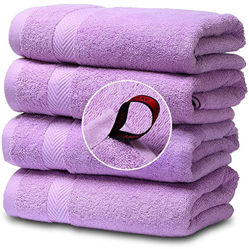"SEMAXE Premium Cotton Hand Towels for Bathroom, 16""x 27"", Luxury Hotel & Spa Towel ( 4 Hand Towel)"