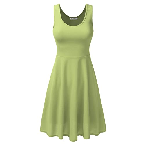 89ac910a00 Doublju Midi Dress Party Flare Tank Skater Dress for Women with Plus Size