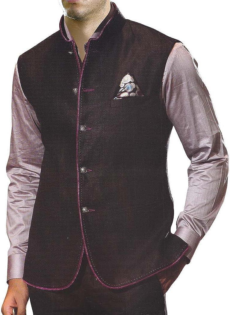 INMONARCH Nehru Jacket Mens Black Vest for Travel Indian Jacket NV40