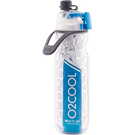 20 oz Raspberry 2 Pack O2COOL ArcticSqueeze Insulated Mist N Sip Squeeze Sports Water Bottle