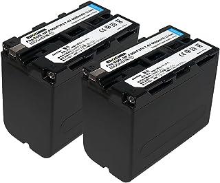 2個セット ソニーNP-F970 / NP-F960対応バッテリーSONY HDR-FX1000-FX7/HVR-V1J等 ビデオライト LEDパネル照明 対応【EDOGAWA】 保証付(ED-BAT)