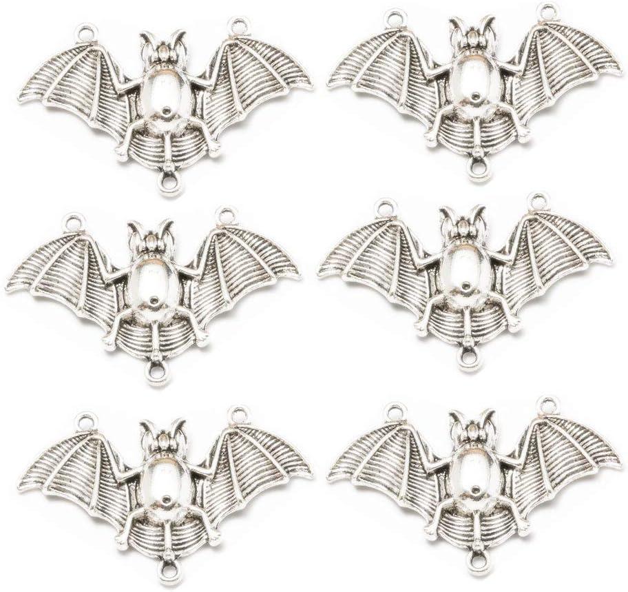 Nippon regular agency 10pcs Antique Silver 55% OFF Plated Bat Charms Bracelet DIY Pendants for