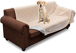 MARKSIGN 100% Waterproof Pet Blanket, Reversible Plush Protective Cover for Bed, Couch, Dog or Cat