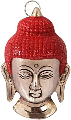 Buddha face Wall Hanging in Metal by Handicrafts Paradise