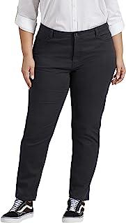 Dickies Women's Size Perfect Shape Skinny Twill 4 Pocket Pant-Plus