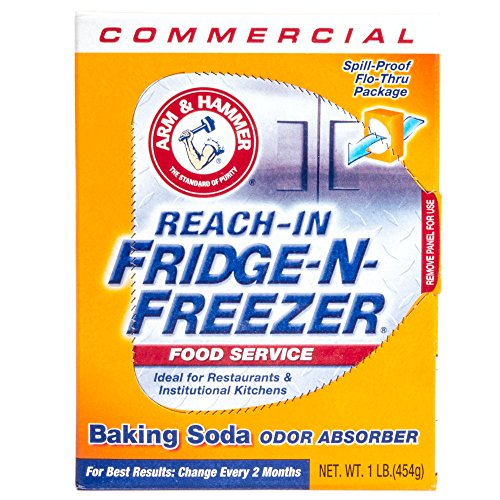 Arm & Hammer Fridge-N-Freezer Pack Baking Soda, Unscented, Powder, 16 oz - Includes 12 per case.