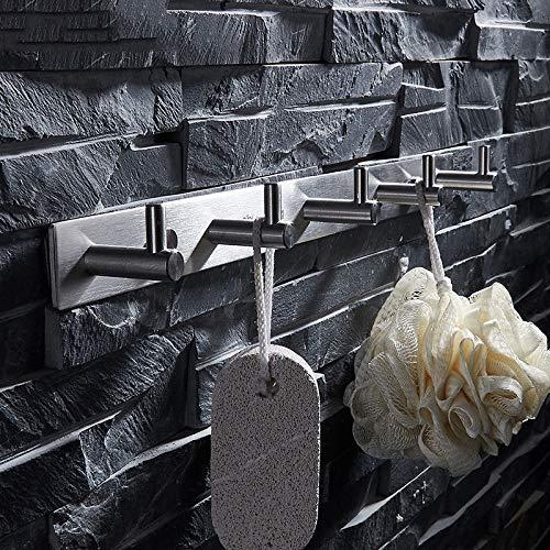 En acier inoxydable patère brossée vêtement de cuisine salle de bain toilettes crochets muraux poinçonnage gratuit 35 7 cm.