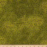 Maywood Studio 0677621 Woolies Flannel Polka Dots Green