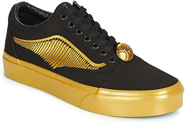 Vans Harry Potter Sk8-hi Trainers Men Black/Red/Yellow High Top Trainers Shoes