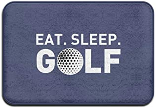 ZMvise Rubber Eat Sleep Golf Sports Funny Letters Welcome Mat Doormat Outdoor 18 x 30 inch