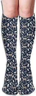 Men's Women's Deer 50Cm Soft Casual Fabric Sport Long Socks