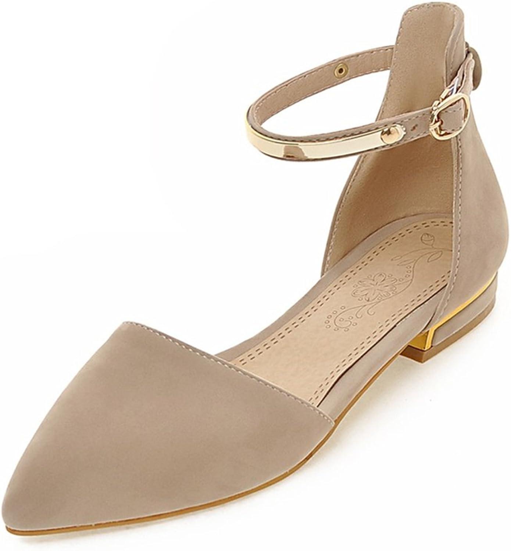 Fashion Heel Women's Chunky Heel Pointed Toe Ankle Strap Sandal