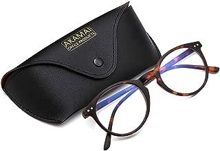 Akamai Blue Light Blocking Glasses - Mens & Womens Computer Screen Bluelight Protection - Anti UV Glare - Hatteras Model (+0.0, Tortoise)