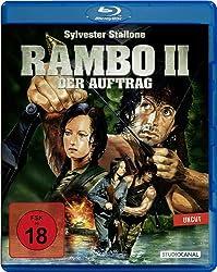 Blu-ray-Cover von Rambo II - Der Auftrag mit Sylvester Stallone und Julia Nickson-Soul