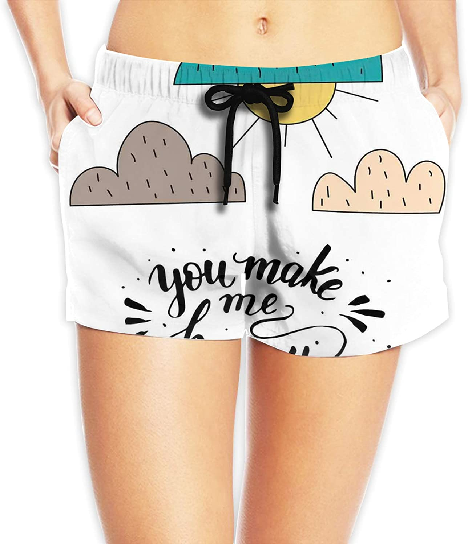 TENJONE Elastic Waist Soft Lounge Shorts Casual Pajama Shorts with Pockets