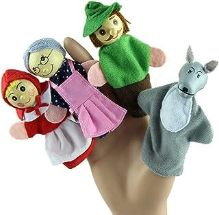 Leegor New 4PCS/Set Little Red Riding Hood Christmas Animal Finger Puppet toy Educational Toys Storytelling Doll