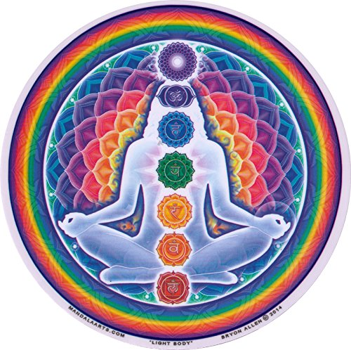 "Mandala Arts Light Body – Spiritual Window Sticker/Decal - Circular 4.5"" Translucent"