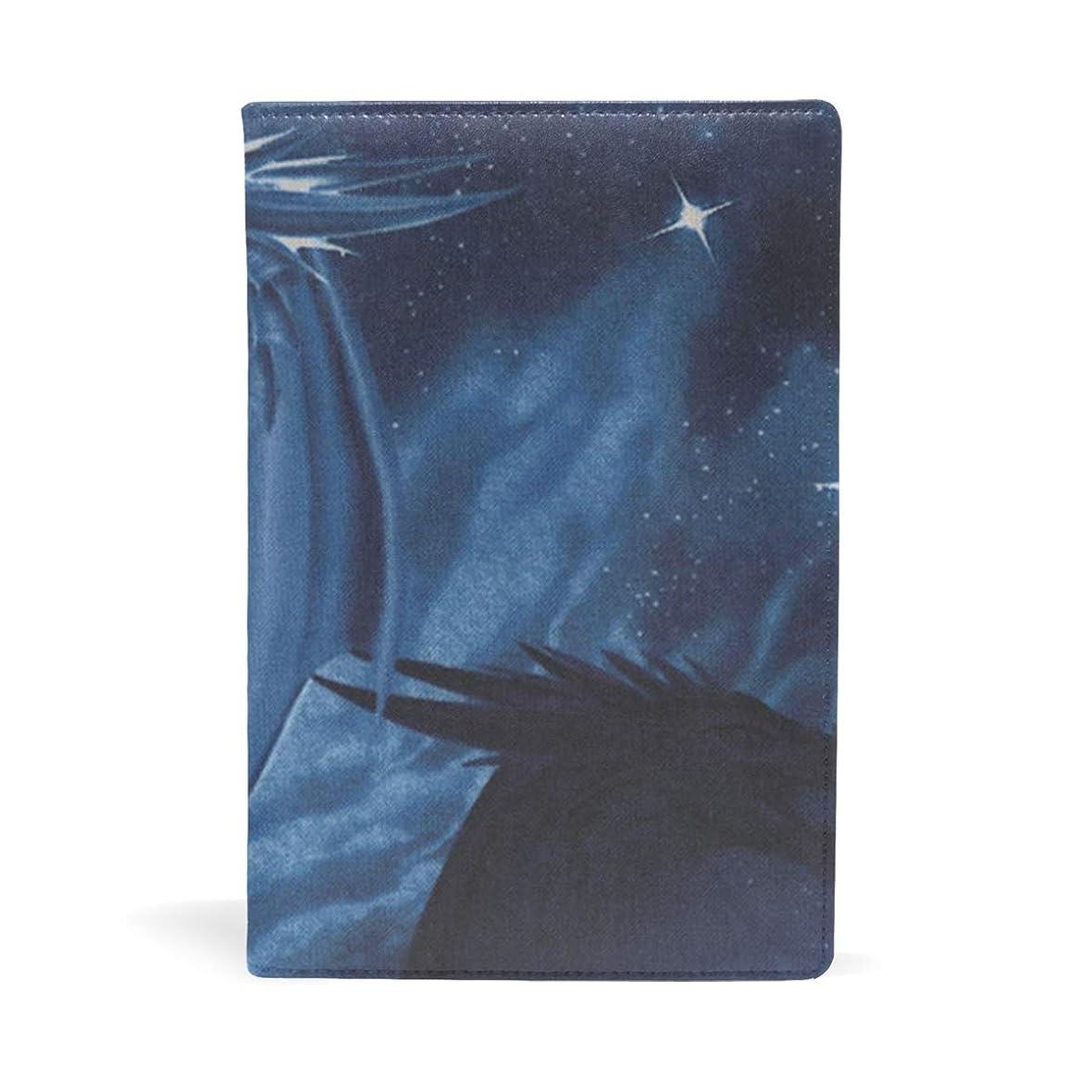 殺人者絡まる影響ブックカバー 文庫 a5 皮革 レザー ブルー ドラゴン 文庫本カバー ファイル 資料 収納入れ オフィス用品 読書 雑貨 プレゼント