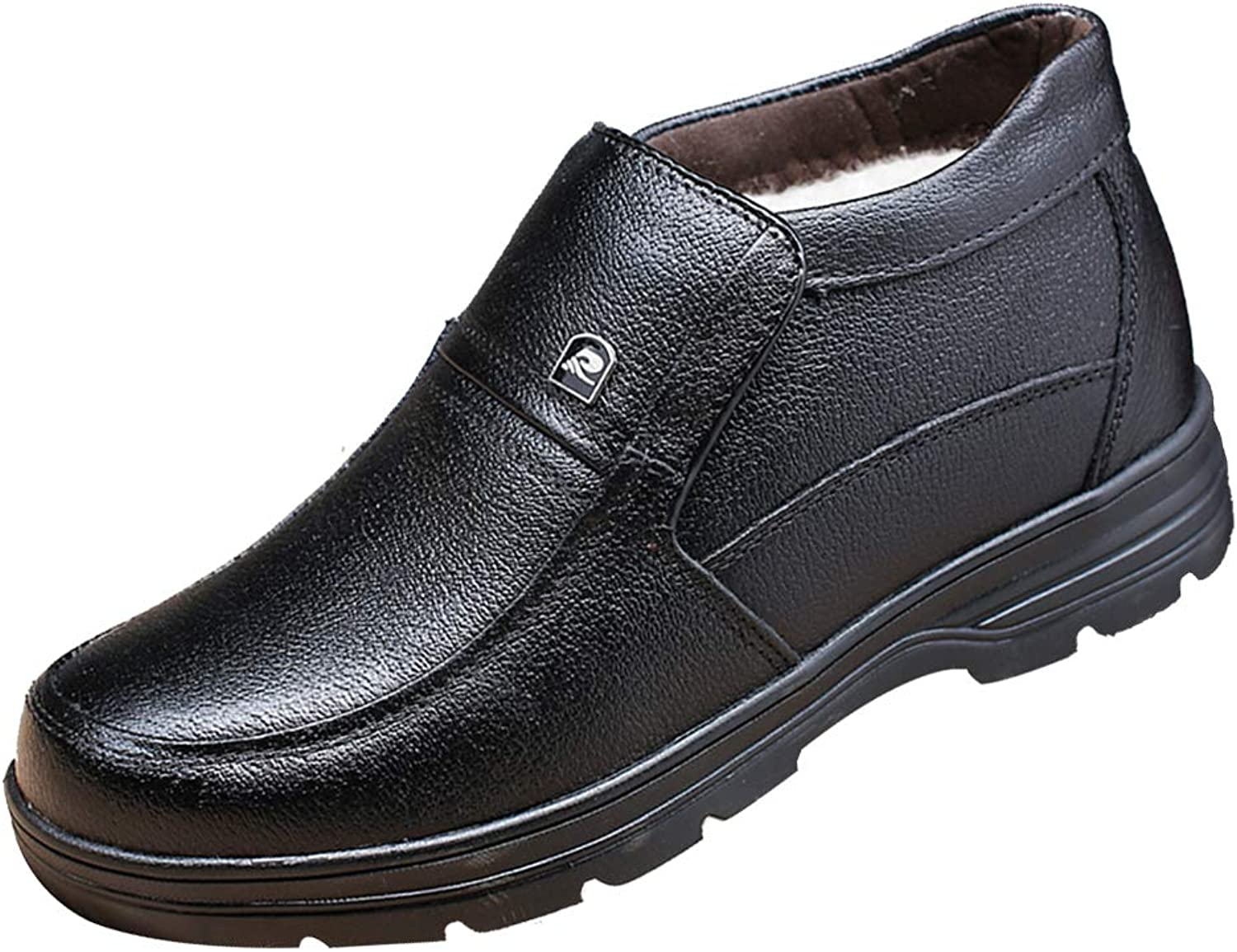 Men's Reproduction Leather shoes,Cotton shoes snow boots,Classic shoes with Hand Stitched,Old man's Warm Leather Boots