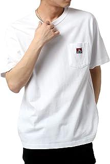 [ベンデイビス] Tシャツ ポケット 付き 無地 半袖 メンズ ホワイト M:(身丈68cm 肩幅45cm 身幅51cm 袖丈22.5cm)