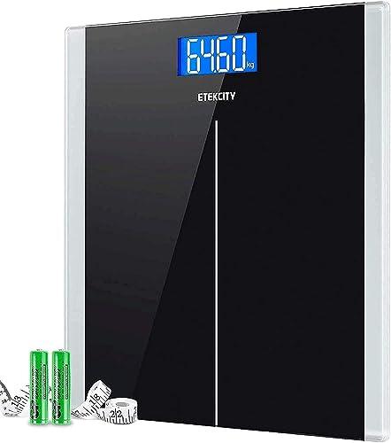 Etekcity Pèse-personne Électronique, Balance Pese Personnes Numérique, Auto On/Off, LCD Rétro Claire, 180kg/400lb, Ve...