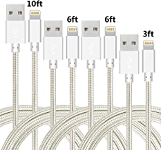 4 Pack IDiSON Apple iPhone Lightning Cable for iPhones and Tablets
