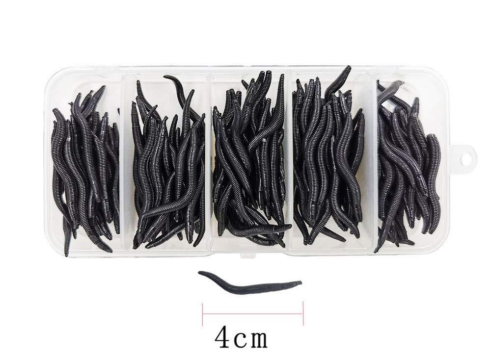 10X Earthworm False Lures Baits Ideal Soft Gear Tackle Fishing Lure !