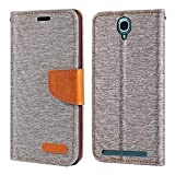 Alcatel One Touch Flash Plus Case, Oxford Leather Wallet