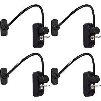 cables para cerrar ventanas y puertas Blanco cable robusto que se puede bloquear con llave para seguridad de beb/és y ni/ños Baby Safety Lock Catch Wire