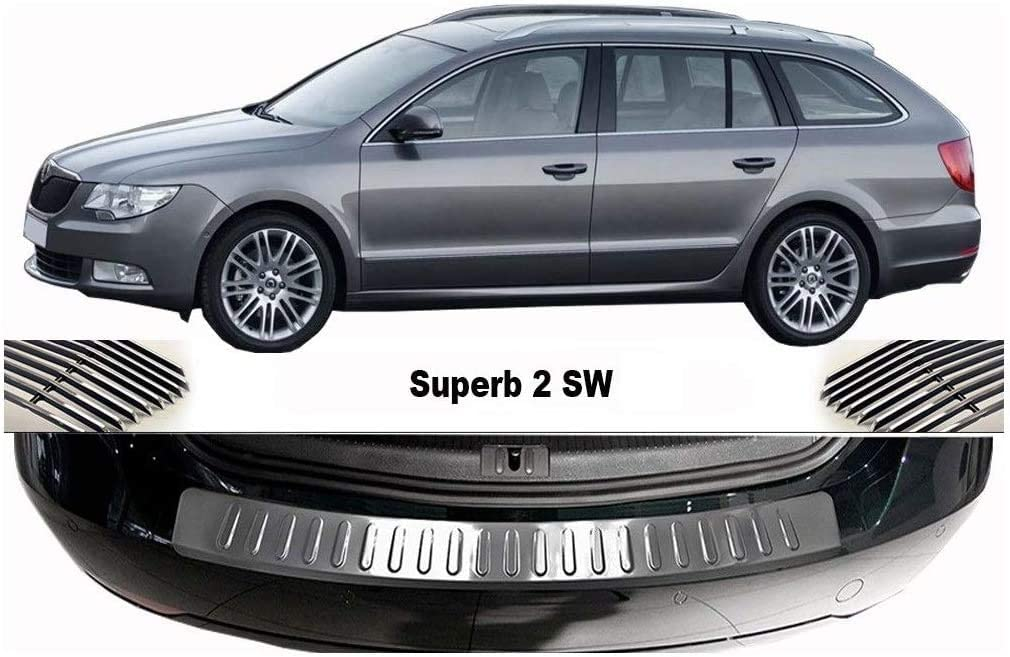 Alternative dealer For 2008-2014 Superb II B6 CHROME Estate Rear Steel outlet Stainless