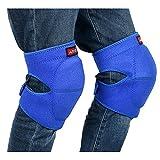 【Ludus Felix】ひざ当てパッド 膝当て ひざパッド ヒザプロテクター ひざパット 作業用 2個セット (ブルー, L)