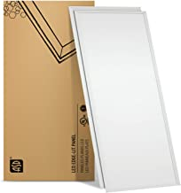 ASD LED Panel Dimmable Edge-Lit Flat Panel 40W 2x4 LED Flat Panel Light 3500K Warm White Troffer Light 4476Lm Commercial Drop Ceiling Lights LED Ceiling Light Standard Thin Panel UL Listed DLC 2-Pack