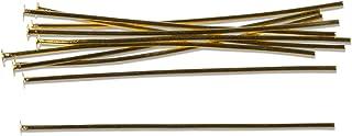 180-Piece Antique Gold Cousin Jewelry Basics Head Pin