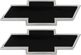 AMI 96127KP Chevy Bowtie Grille & Tailgate Emblem - Polished/Black Powder coat, 2 Pack