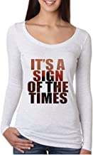 Allntrends Women's Shirt It's A Sign Of The Times Styles Shirt Popular Top