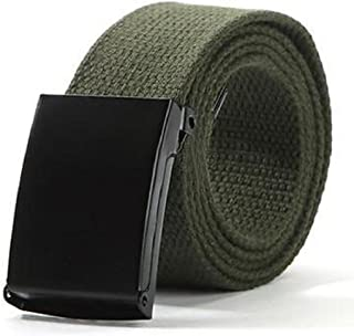 Bodhi2000 Unisex Military Style Casual Army Outdoor Tactical Webbing Buckle Belt