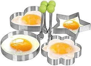 4 Shape Fried Egg Mold Non Stick Stainless Steel Pancake Mold Omelette Pancake Rings