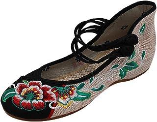 9fc6cf3f uirend Zapatos Tradicionales Chinos Mujer - Las Mujeres de la Lona del  Bordado de la Flor