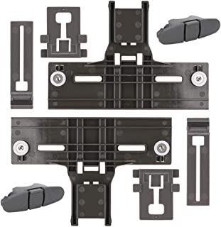 W10350376 Dishwasher Top Rack Adjuster & WPW10508950 Dishrack Upper Rail Stop Clip & W10195839 Dishrack Adjuster & W10195840 Dishrack Positioner for Kenmore KitchenAid Replace W10253546 W10199682