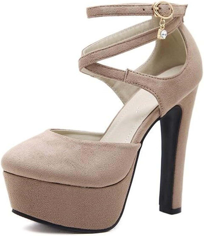 Bon Soir Women Sexy Ankle Strap Stiletto Platform Pumps shoes Party shoes