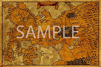 Best Print Store - Kingkiller Chronicles - The Four Corners of Civilization Vintage Map Poster  24x36 inches