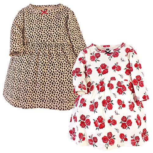 Hudson Baby Girl's Cotton Dresses, Rose Leopard, 3-6 Months