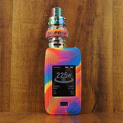 ModShield for Smok X PRIV 225W TC Silicone Case & Tank Band ByJojo XPRIV Cover Shield Wrap Skin Sleeve (Rainbow)