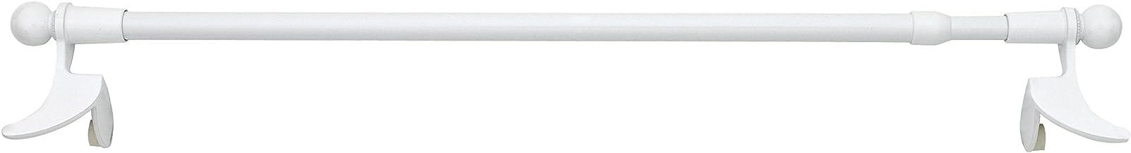 PRESTO BASIC Tringle Extensible /à Fixation Par Pression 30-45cm  M/étal Nickel Mat  1 pi/èce