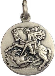 Medalla de San Jorge de Plata Maciza 925 - Las Medallas de Los Patronos …