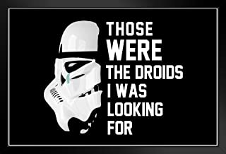 Poster Foundry ProFrames Those were The Droids I was Looking for Crying Stormtrooper Funny 14x20 inches Black 179894
