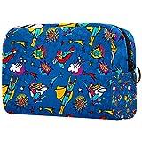 Bolsa de maquillaje personalizada para brochas de maquillaje, bolsas de aseo portátiles para mujeres, bolso cosmético, organizador de viaje de superhéroe